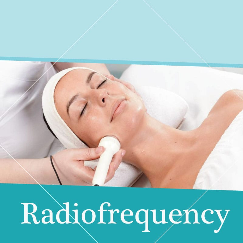 radiofrequency face treatment in woman