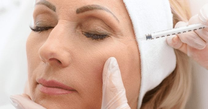 What is the average age for botox treatments?
